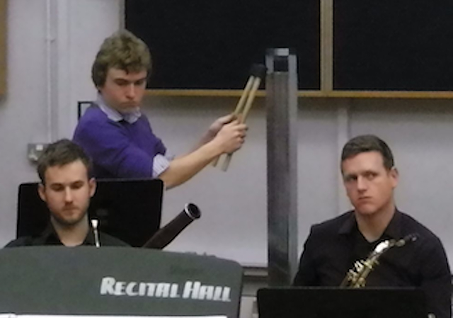 Thumb in rehearsal