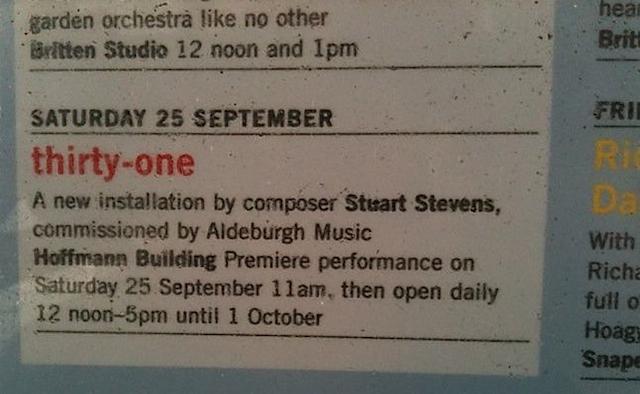 Aldeburgh poster